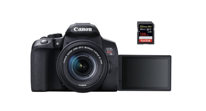 best sd memory cards canon rebel t8i