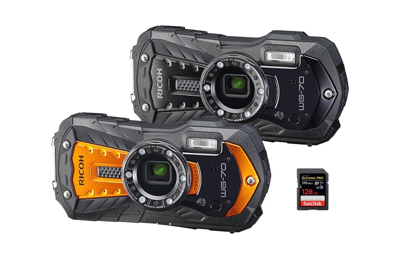 best sd memory cards ricoh wg-70